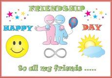приятельство дня счастливое Иллюстрация штока