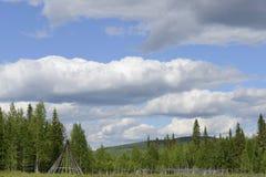 Приятель лета традиционный в Лапландии Стоковая Фотография