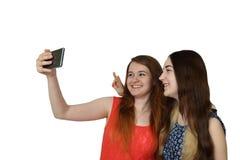 2 приятеля делают selfie Стоковые Изображения