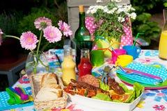 приём гостей в саду Стоковые Изображения RF