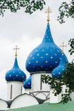 Придает куполообразную форму: православную церков церковь Стоковая Фотография