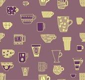 Придает форму чашки безшовная предпосылка Стоковые Изображения