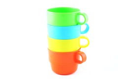 придает форму чашки пластмасса Стоковые Изображения RF