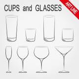 придает форму чашки стекла бесплатная иллюстрация