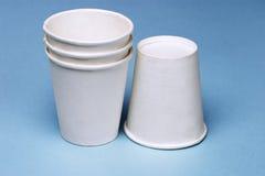 придает форму чашки устранимая бумага Стоковые Фотографии RF