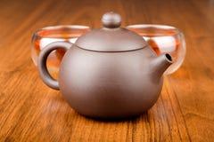 придает форму чашки чайник Стоковые Фотографии RF