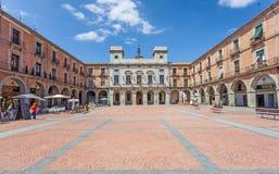 Придайте квадратную форму в старом городке Авила, Испании Стоковое фото RF