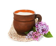 придайте форму чашки молоко Стоковое Изображение