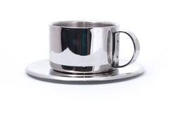 придайте форму чашки серебр Стоковая Фотография RF