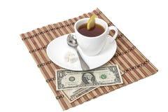 придайте форму чашки чай лимона стоковые изображения rf