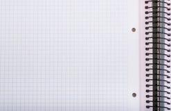 Приданная квадратную форму тетрадь Стоковое фото RF