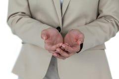 Приданные форму чашки руки женщины Стоковая Фотография RF