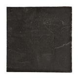 Приданный квадратную форму черный шифер изолированный на белизне стоковое фото