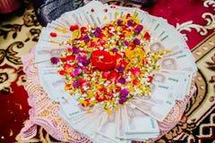 Приданое в тайской традиционной свадьбе стоковые фотографии rf