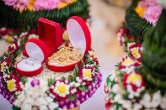 Приданое в тайской традиционной свадьбе стоковые фото