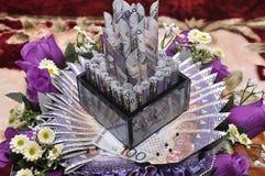 Приданое свадьбы Malay стоковая фотография rf