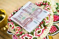 Приданое для свадебной церемонии культура Таиланд стоковые фото