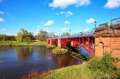 Приливная плотина, река Клайд, Глазго, Шотландия Стоковое фото RF