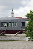 Прилив на Дунае в Братиславе, Словакии Стоковое Фото