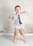 Придурковатый гипер мальчик Стоковая Фотография