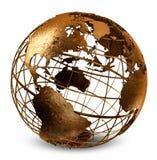 проарретированный глобус стоковая фотография