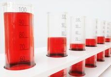 Проба крови в пробирке - переводе 3d Иллюстрация вектора