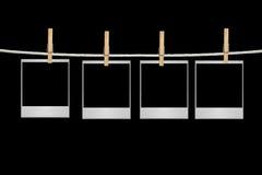 пробелы снимают вися веревочку Стоковое Изображение RF