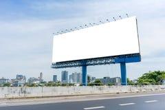пробел афиши на дороге в городе для рекламировать предпосылку Стоковые Фото