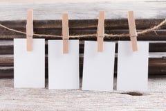 Пробел визитной карточки на деревянной предпосылке Стоковое Изображение