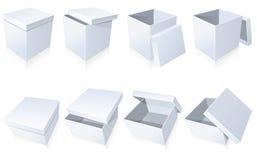 пробел кладет картон в коробку Стоковые Изображения RF