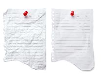 пробел перечисляет бумагу примечания до 2 Стоковые Изображения
