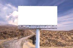 пробел афиши на дороге сельской местности для рекламировать предпосылку Стоковые Фотографии RF