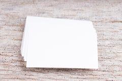 Пробел визитной карточки на деревянной предпосылке Стоковое Фото