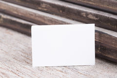 Пробел визитной карточки на деревянной предпосылке Стоковые Изображения RF