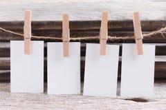 Пробел визитной карточки на деревянной предпосылке Стоковое Изображение RF
