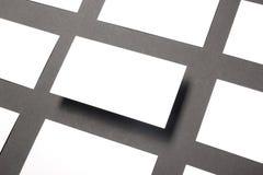 Пробел визитной карточки над таблицей офиса Модель-макет корпоративных канцелярских принадлежностей клеймя Стоковые Фото