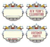 Пробел кино дня рождения Нового Года шатёр бесплатная иллюстрация