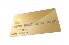 Пробел кредитной карточки кредита в банке Стоковые Изображения