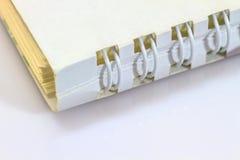 Пробел тетради кольца на белой предпосылке Стоковое Изображение