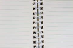 Пробел тетради кольца на белой предпосылке Стоковые Изображения RF