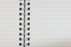Пробел тетради кольца на белой предпосылке Стоковые Фото