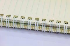 Пробел тетради кольца на белой предпосылке Стоковые Изображения
