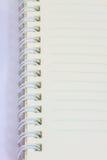 Пробел тетради кольца на белой предпосылке Стоковое Фото