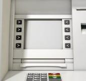 Пробел экрана ATM Стоковое Фото