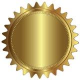 Пробел ярлыка значка уплотнения золота пустой Стоковая Фотография
