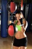 пробивать женщины боксера Стоковые Изображения RF