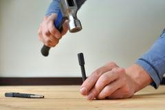 пробивать ногтей Стоковое Фото