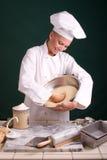 пробивать теста хлебопека Стоковое фото RF