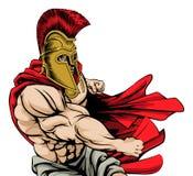 Пробивая спартанский талисман иллюстрация штока