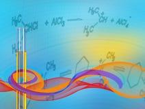 Пробирка предпосылки абстрактной науки Стоковая Фотография RF